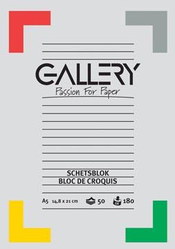 Gallery bloc de croquis ft 14,8 x 21 cm (A5)
