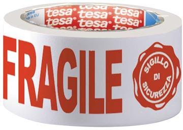 Tesa ruban adhésif d'emballage: FRAGILE, ft 50 mm x 66 m