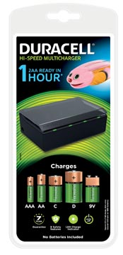 Duracell chargeur Hi-Speed Multicharger, sous blister