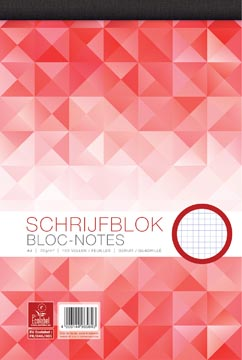 Work bloc-notes, ft A4, 70 g/m², 100 feuilles, quadrillé 5 mm