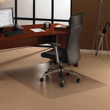 Floortex tapis de sol Cleartex Ultimat, pour moquette, rectangulaire, ft 120 x 150 cm