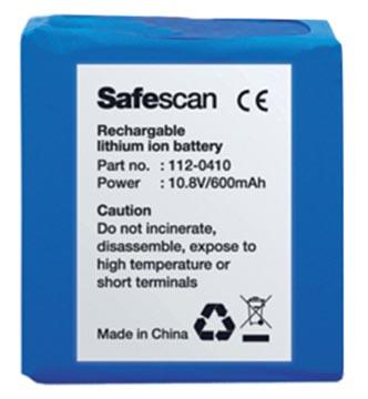 Safescan pile rechargeable LB-105, pour détecteur de faux billets 155-165
