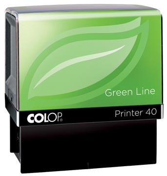 Colop cachet Green Line Printer Printer 40, 6 lignes max., pour les Pays-Bas, ft 23 x 59 mm