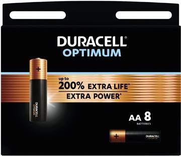 Duracell piles Optimum, AA, blister 8 pièces