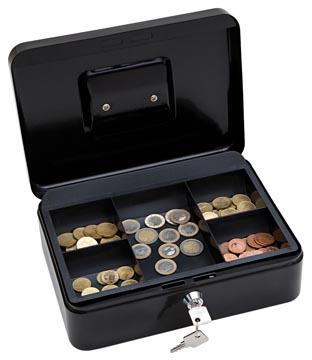 Wedo coffret à monnaie, ft 25 x 18 x 9 cm, noir
