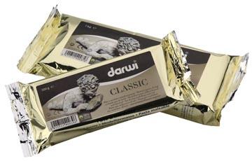 Darwi pâte à modeler Classic, paquet de 1 kg, blanc