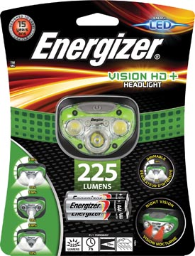 Energizer lampe frontale Vision HD+, 3 piles AAA inclus, sous blister