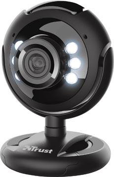 Trust Spotlight Pro webcam, avec microphone et diodes d'éclairage intégrés