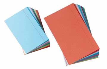 Gallery fiches colorées ft 12,5 x 20 cm, avec lignes