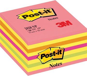 Post-it Notes, ft 76 x 76 mm, couleurs assorties, bloc de 450 feuilles