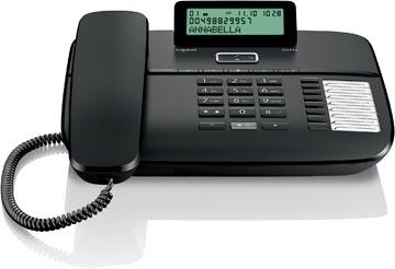 Gigaset DA710 téléphone filaire, noir