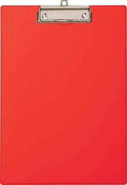 Maul plaque à pince, en PP, pour ft A4, rood