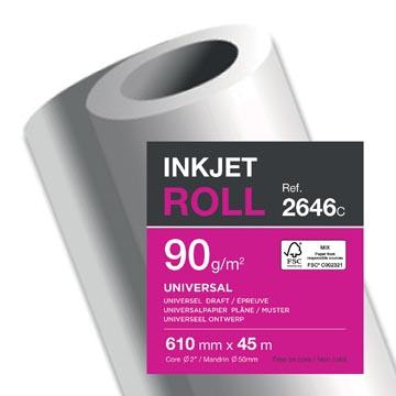 Clairefontaine papier plotter ft 610 mm x 45 m, 90 g