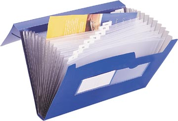 Beautone trieur, A4, 13 compartiments, bleu