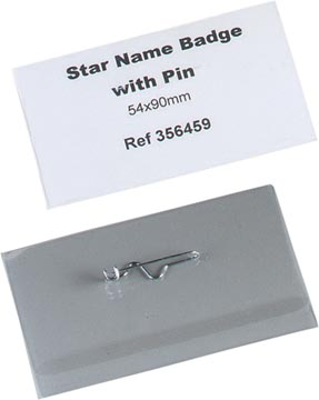 STAR badge avec épingle ft 54 x 90 mm