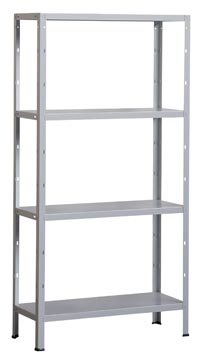 Avasco étagère Clicker 85, ft 173 x 90 x 40 cm, 4 tablettes, galvanisé