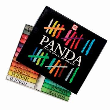 Talens Panda pastel à l'huile, boîte de 24 pastels