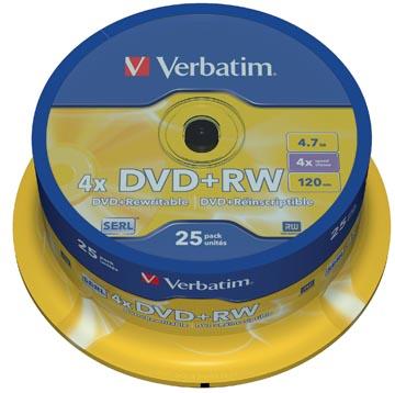 Verbatim DVD réinscriptible DVD+RW spindle de 25 pièces