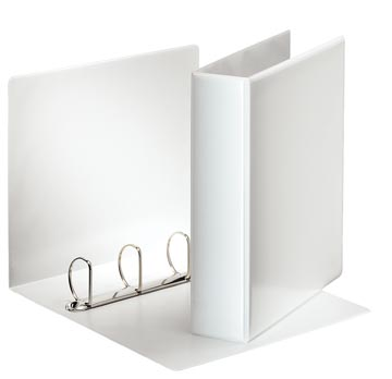 Esselte classeur à anneaux personnalisable, dos de 7,7 cm, 4 anneaux en D de 50 mm, blanc