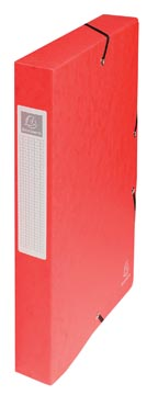 Exacompta boîte de classement Exabox rouge, dos de 4 cm