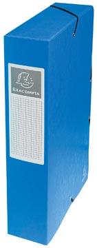 Exacompta boîte de classement Exabox bleu, dos de 6 cm