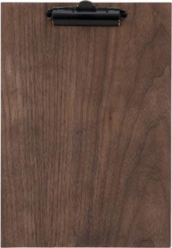 Securit protège-menu Clipboard, ft 33 x 23 cm, en bois de noyer