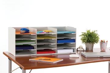 Paperflow bloc à cases fixes, 15 cases, largeur 75,5 cm