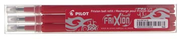 Pilot recharge pour FriXion Ball et Frixion Ball Clicker, pointe moyenne, rouge