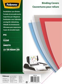 Fellowes couvertures pour reliure, ft A3, 200 microns, paquet de 100 pièces