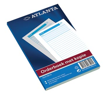 Atlanta by Jalema Orderbook 50 x 2 feuilles, ft 21 x 14,8 cm, 1 feuille carbone