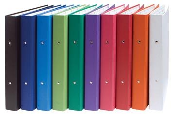 Exacompta Classeur à anneaux couleurs assorties: blanc, orange, rouge, rose, pourpre, vert, vert clair...