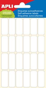 Apli étiquettes blanches ft 12 x 30 mm (l x h), 144 pièces, 24 par feuille (2671)