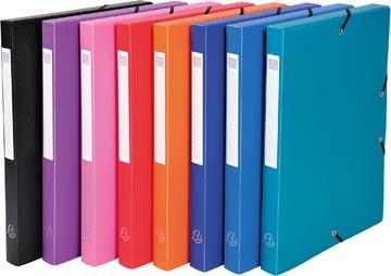 Exacompta boîte de classement dos de 2,5 cm couleurs assorties