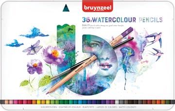 Bruynzeel crayons à aquarelle Expression, boîte de 36 pièces