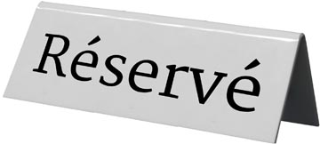 Securit panneau de table 'Reservé', paquet de 5 pièces