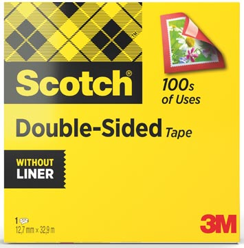 Scotch ruban adhésif, double-face, ft 12 mm x 33 m