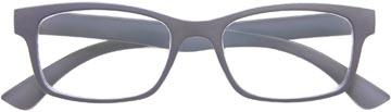 SILAC Soft Grey lunettes de lecture, caoutchouc polycarbonate, +1,50