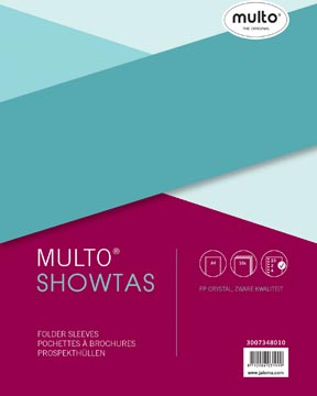 Multo pochette perforée, ft A4, perforation 23 trous, lisse, paquet de 10