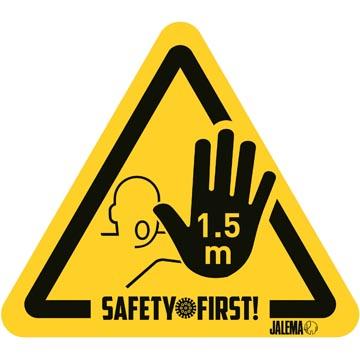 Autocollant d'avertissement, gardez vos distances, panneau attention