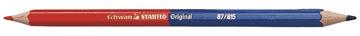 STABILO crayon Original, rouge/bleu