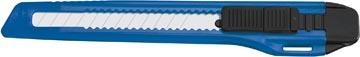 Office cutter, 9mm, noir/bleu, sous blister