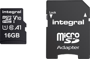 Integral carte mémoire microSDHC, 16 Go
