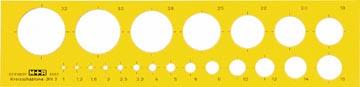 M+R gabarit de cerle, cercles de 1 à 32 mm
