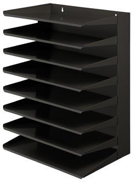 V-part trieur 8 étages, noir
