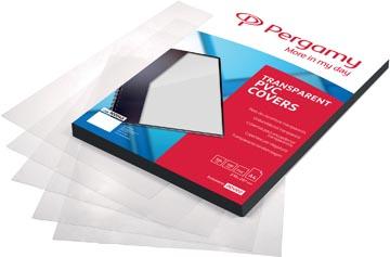 Pergamy couvertures en PVC, transparent, ft A4, 250 microns , paquet de 100 pièces
