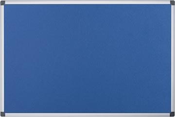 Pergamy tableau de textile avec cadre en aluminium ft 60 x 90 cm, bleu
