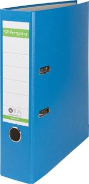 Pergamy classeur, pour ft A4, en carton recouvert de Plastique Recycolor, dos de 8 cm, bleu