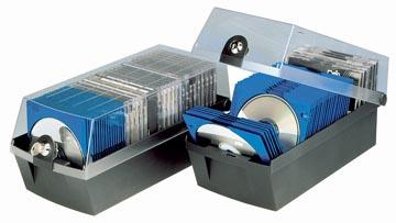 Han boîte de rangement pour CD/DVD Mäx gris