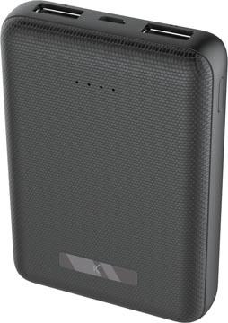 Ksix powerbank mini, 10.000 mAh, noir