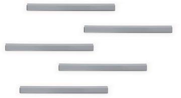 Durable Durafix barre magnétique adhésive, 210 mm, paquet de 5 pièces, argent